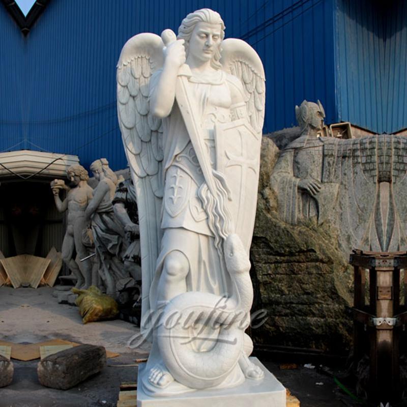 Life Size The Archangel Saint Michael Marble Sculpture (4)