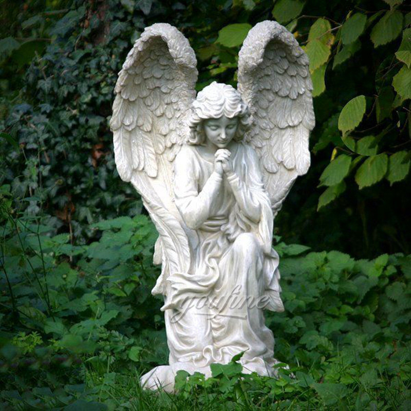 Praying Kneeling Angel Marble Statue Feedback from Customer (1)