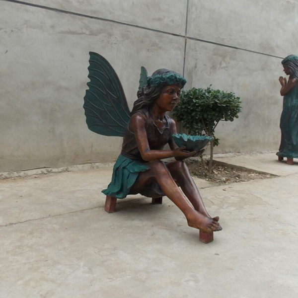 Winged Little Girl Bronze Butterfly Sculpture for Uk Customer (3)