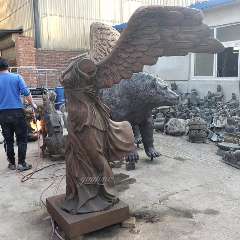 Famous Nike of Samothrace Bronze Statue for Customer