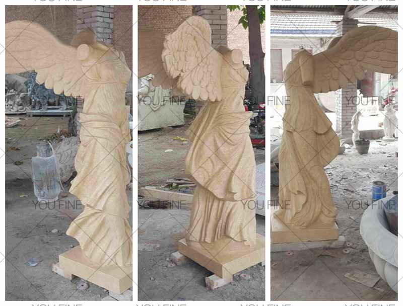 Antique Famous Greek Goddess Victory Nike of Samothrace Marble Statue (3)