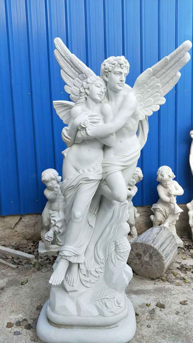 Famous Eros And Psyche Angel Marble Lover Statue for Customer (1)