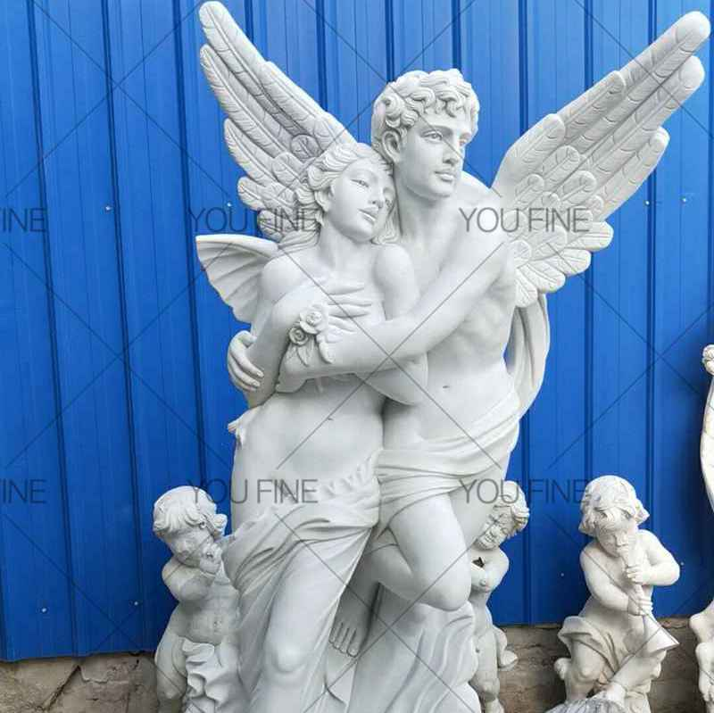 Famous Eros And Psyche Angel Marble Lover Statue for Customer (3)