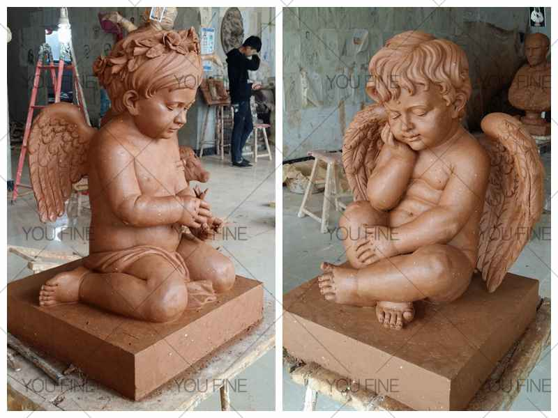 Luxury White Marble Cherubs Statue (2)