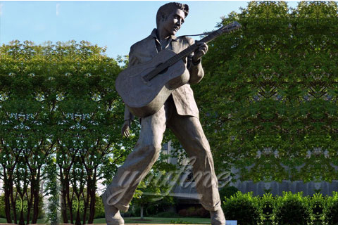 Famous Rock Playing Music Bronze Elvis Presley Statue (1)