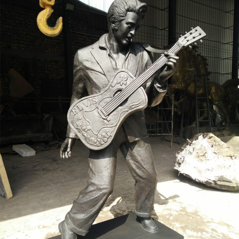 Famous Rock Playing Music Bronze Elvis Presley Statue (2)