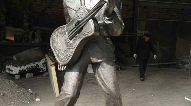 Famous Rock Playing Music Bronze Elvis Presley Statue (5)