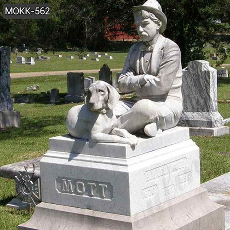 Hand Carved Loyal Dog Sculpture And Human Marble Monument (4)