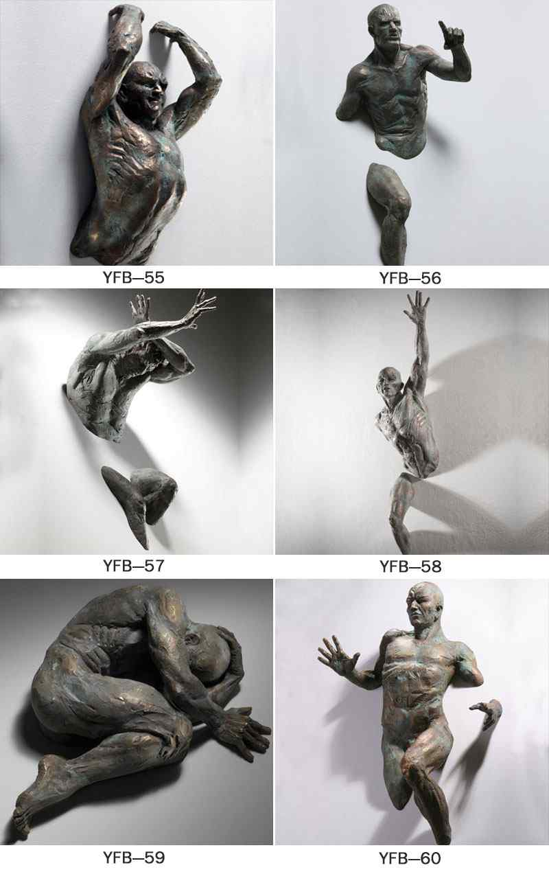 Famous Indoor Decoration Wall Bronze Matteo Pugliese Statues