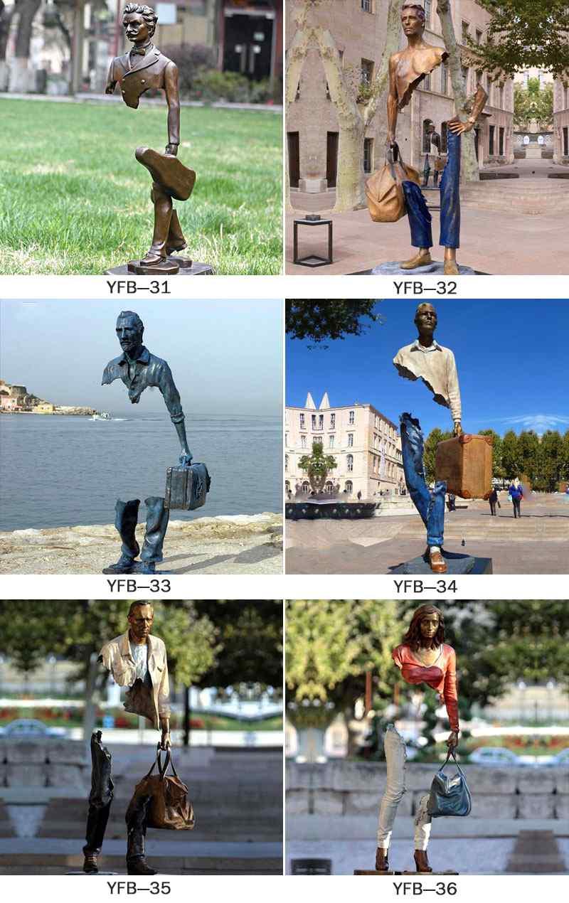 Famous Life Size Bronze Bruno Catalano Statue for Sales