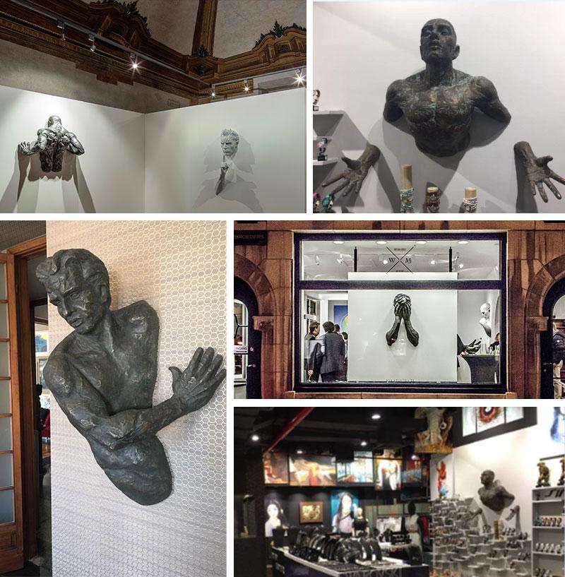 Feedback of Life-size Popular Indoor Decoration Bronze Matteo Pugliese Statue