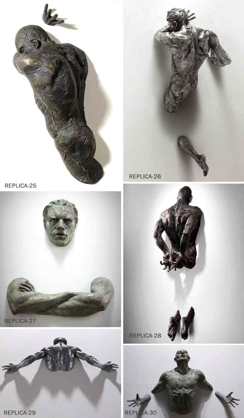 Home Decoration Life Size Bronze Matteo Pugliese Statues