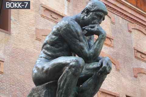 Famous Life Size Cast Bronze Thinker Statue