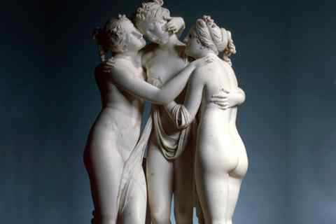 Famous art sculptures life size marble the three graces statues for sale