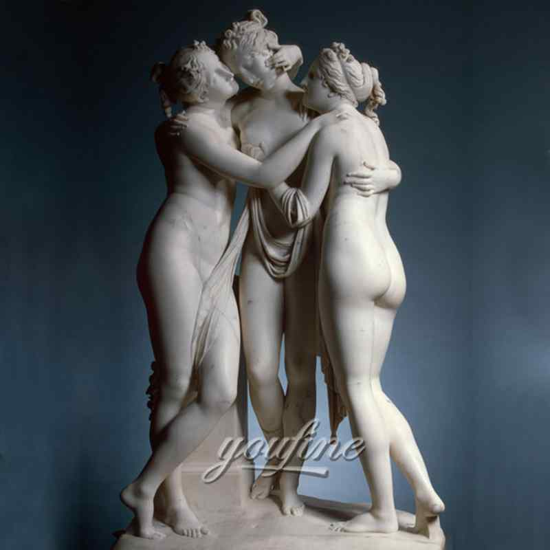 Famous art sculptures life size marble the three graces statues